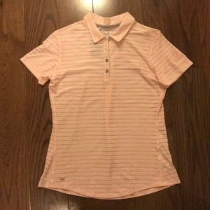 Adidas light pink climacool golf polo